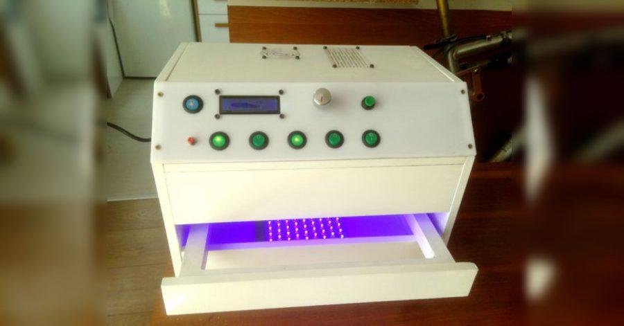 Arduino osvitová UV skříňka