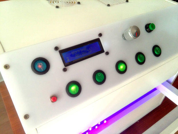 Arduino osvitová UV skříňka - Ovládací panel