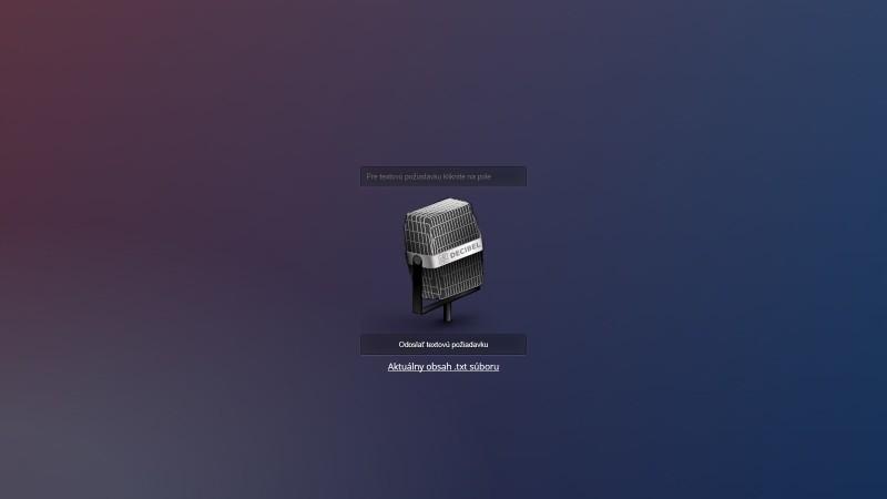 Arduino ovládání hlasem - Web s ovládáním
