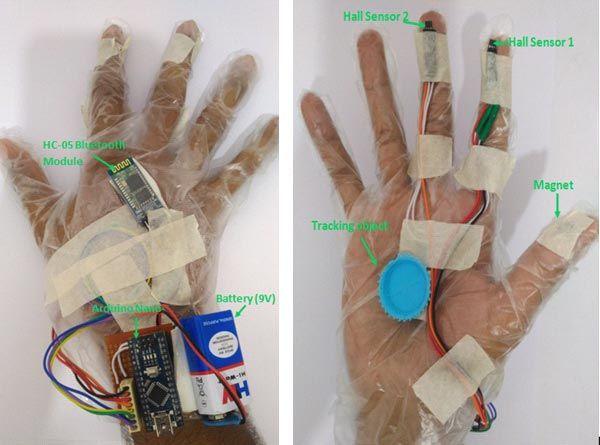 Ovládání počítače gesty pomocí Arduina a webkamery - Rukavice