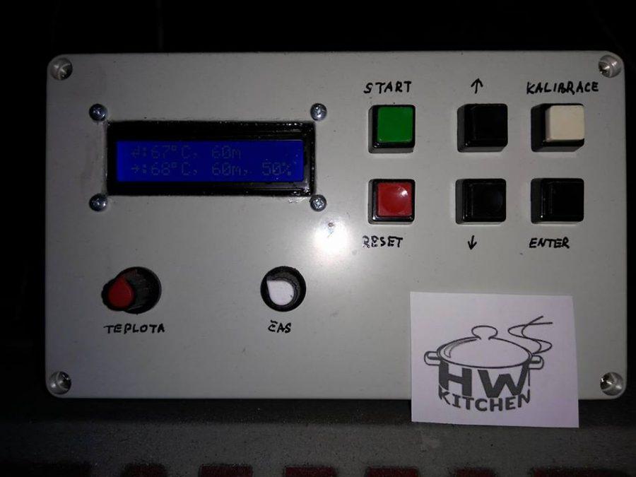 Detail ovládacího panelu
