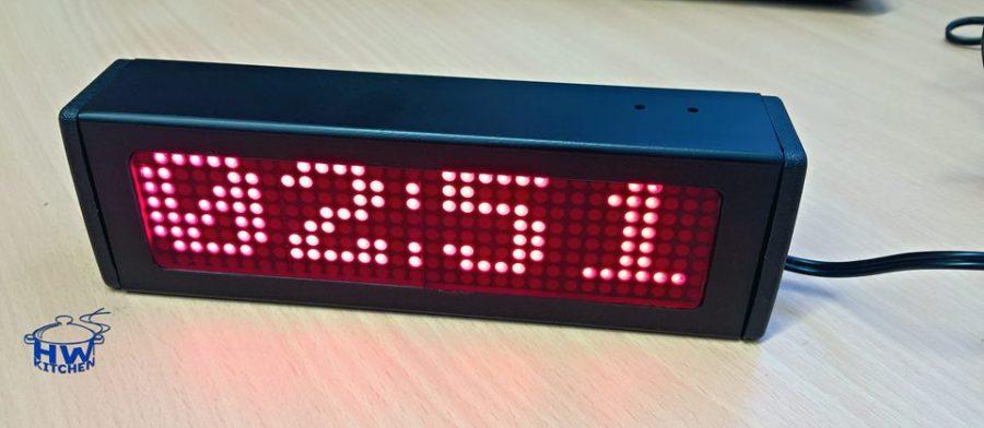 Arduino hodiny s maticovým displejem