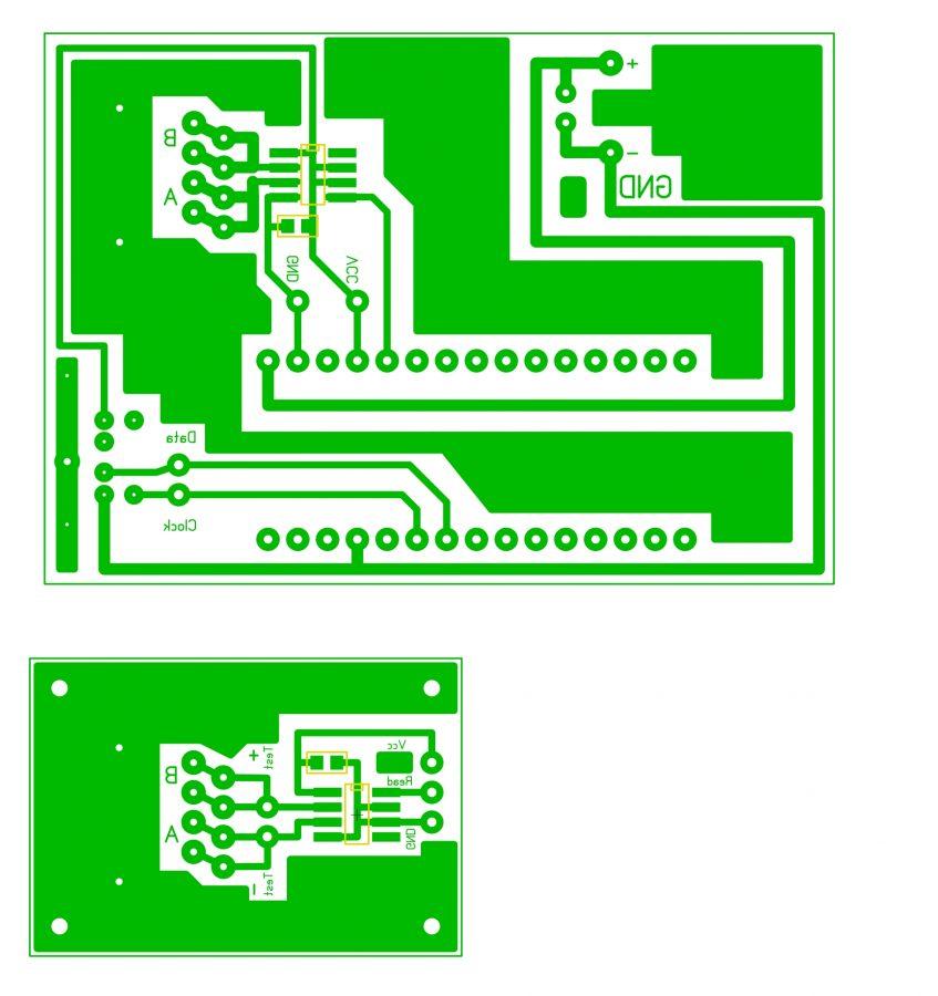 Arduino a PS/2 klávesnice - PCB