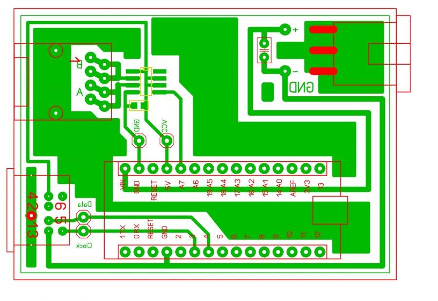 Arduino převodník PS2 - RS485