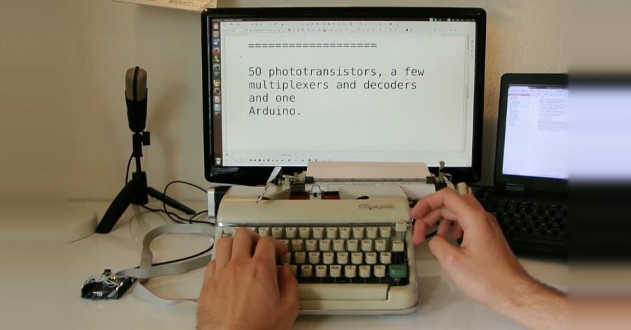 Psací stroj jako PC klávesnice s Arduinem