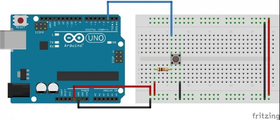 Arduino: Tlačítko s rezistorem