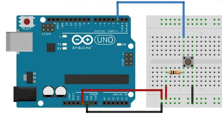 Arduino externí PULLUP rezistor