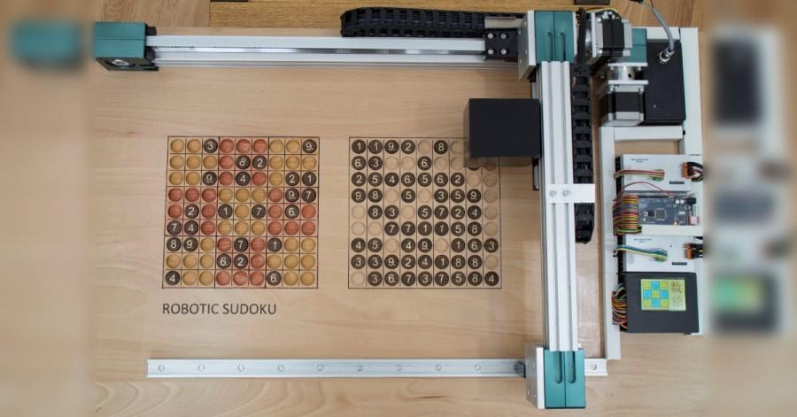 Arduino robotické sudoku