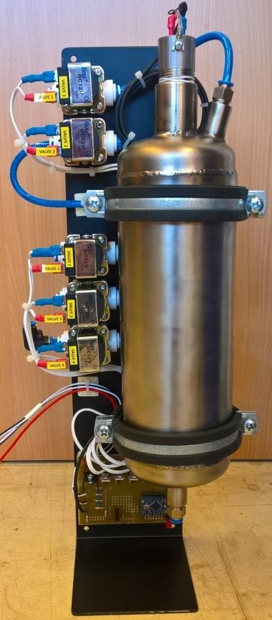 Arduino sodobar - Odkrytá tlaková nádoba a ventily