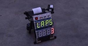 Arduino stopky času kol pro motokáry