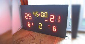 Arduino časomíra a tabule ukazující skóre