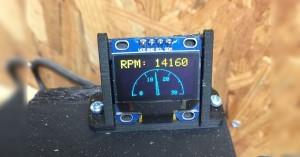 Arduino otáčkoměr pro CNC frézku