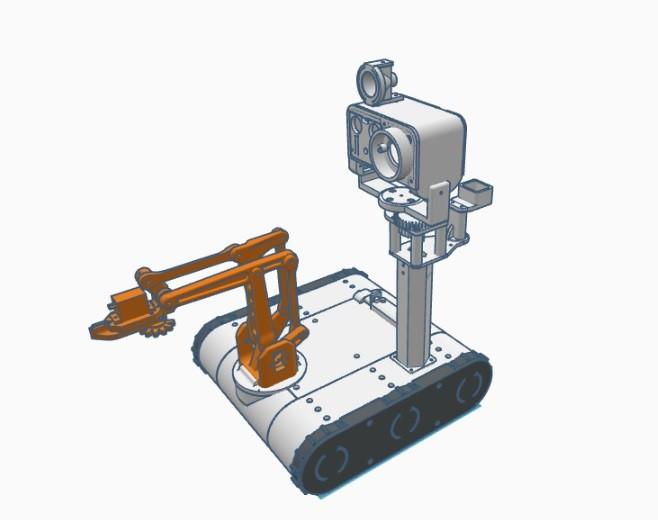 Arduino robotický tank - Model