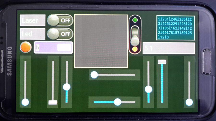 Arduino robotický tank - Ovládání tanku