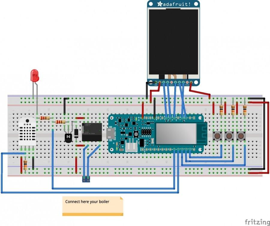 Zapojení Arduino termostatu