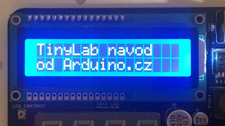 Arduino kit TinyLab - LCD: Výsledný text