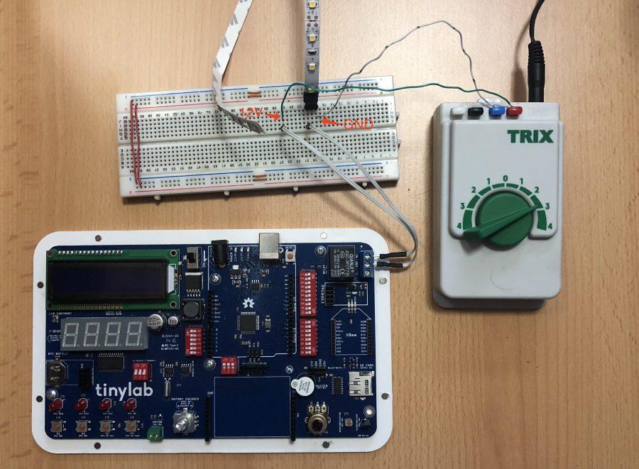 Použití relé u desky TinyLab - Arduino