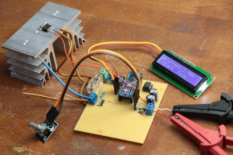 Arduino umělá zátěž - zapojení