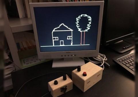 Arduino VGA kreslení Etch-a-sketch