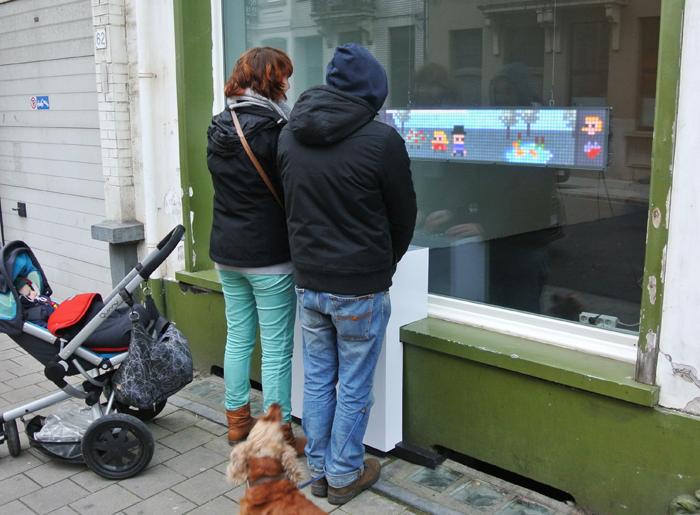 Arduino videohra na ulici