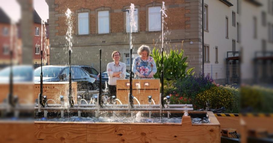Vodní fontána s Arduinem a vysokotlakými čističi Kärcher