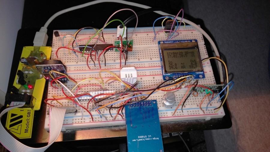 První pokusy s 433Mhz a SD kartou