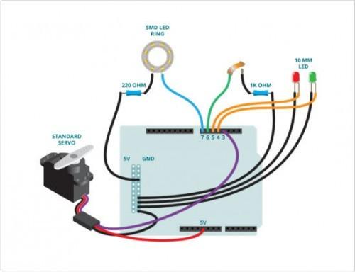 Candy Locker Arduino schéma