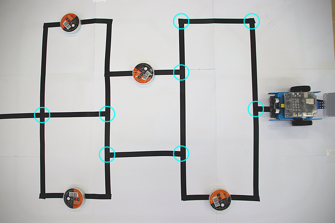 mbot - mapa pro program labyrint