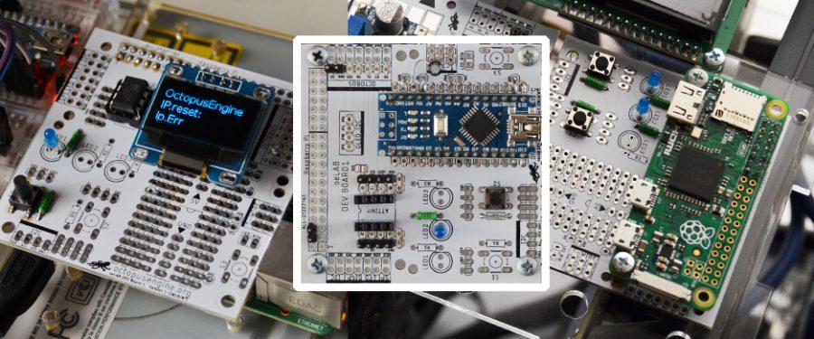 DEV Board projekty: Nasazena nad Raspberry Pi   S Arduinem NANO – jako programátor Attiny   S Raspberry PI ZERO