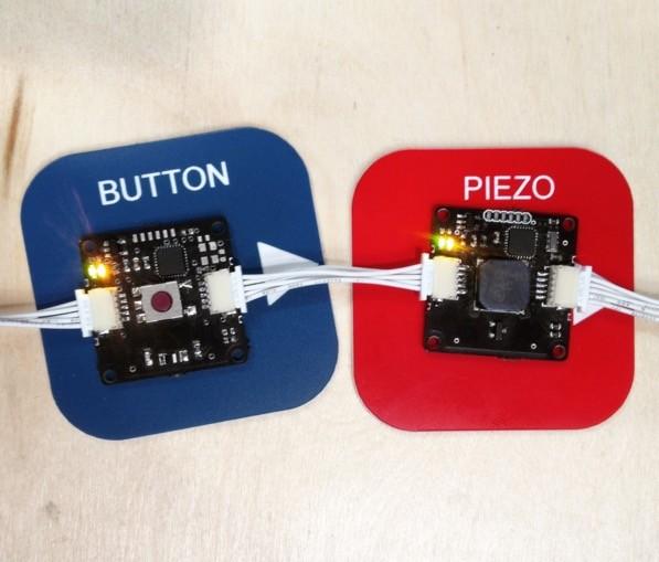 Elektronické moduly Eslov - Button a Piezo