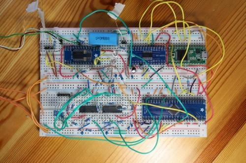 Prototyp řídící elektroniky STM
