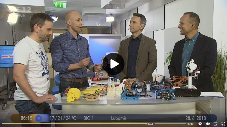 Oldřich Horáček a Ivan Sobička v Dobrém ránu o prvním českém Maker Faire