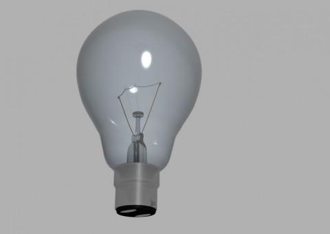 Žárovka jako příklad pro vysvětlení proudu, napětí a výkonu