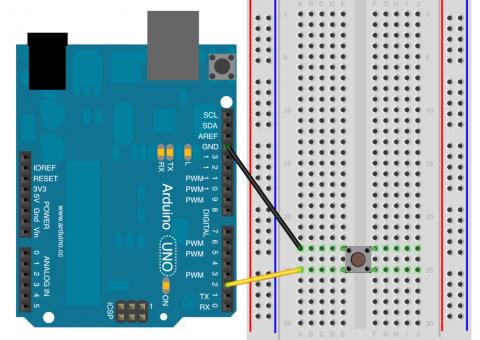 Pokročilé zapojení tlačítka k Arduinu