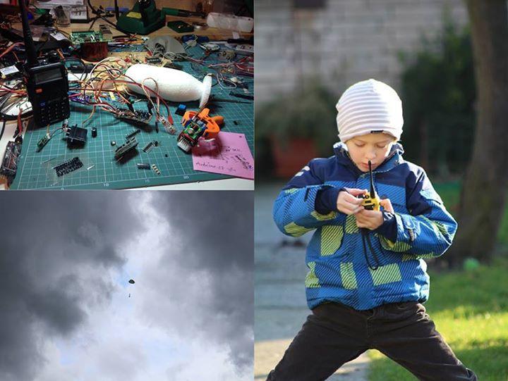 Jan Hons Šuškleba - letadlo shazující bomby s bombony