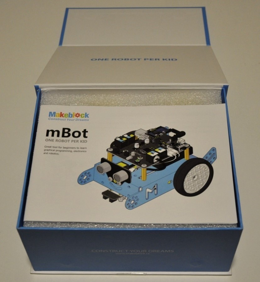 Otevřené balení robota mBot