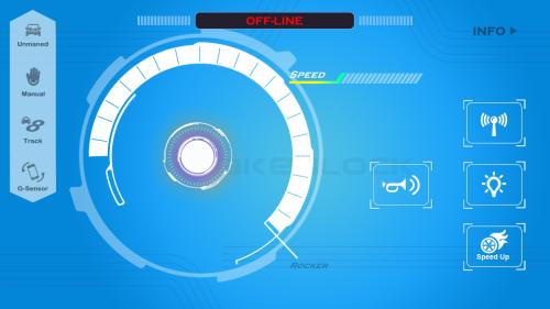 Aplikace pro ovládání mBot