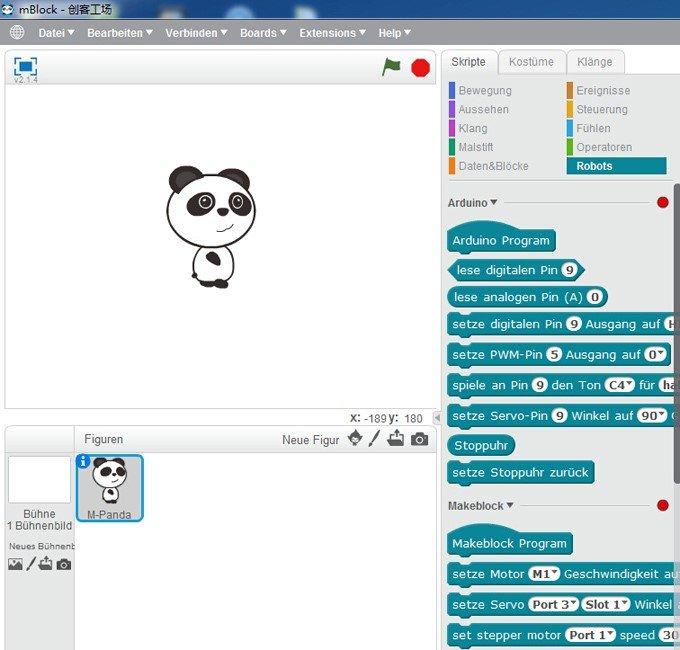 Programovací prostředí pro mBot