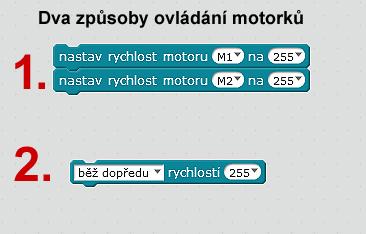 mbot - programování motorků