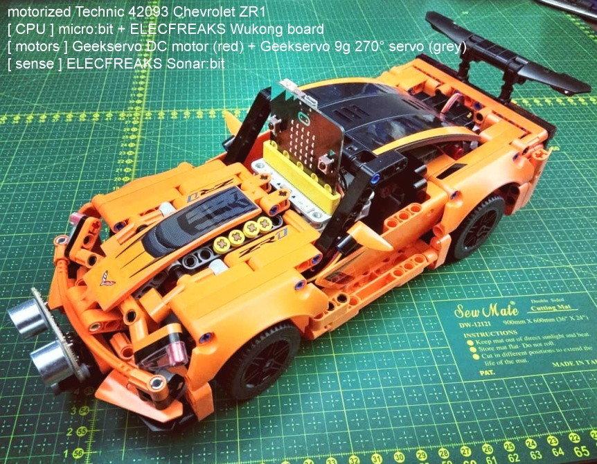 Motorizace Chevroletu ZR1 pomocí micro:bit a Geekservo