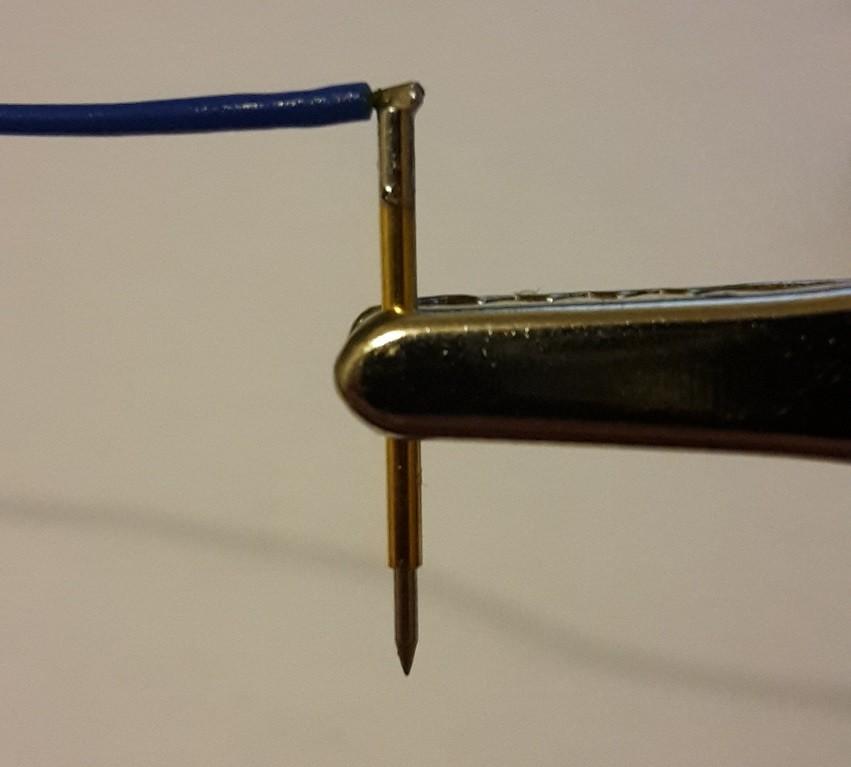 Připájení pogo pinů