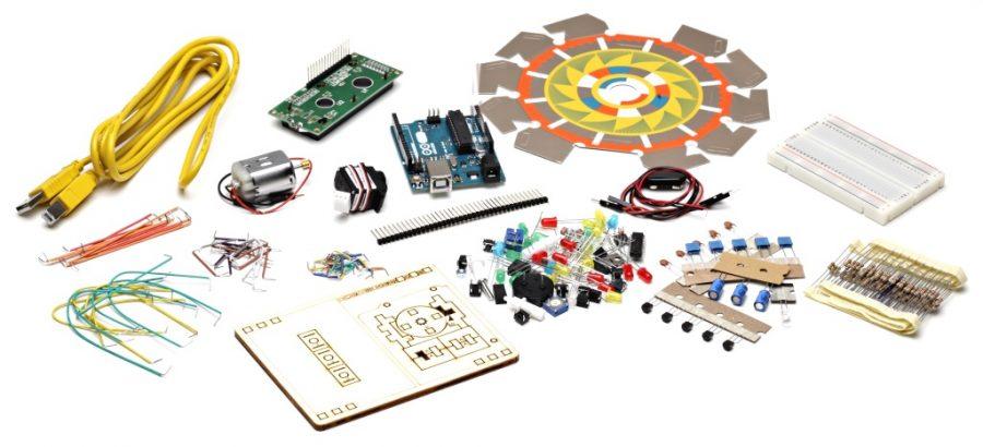Originální Arduino Starter Kit - součásti