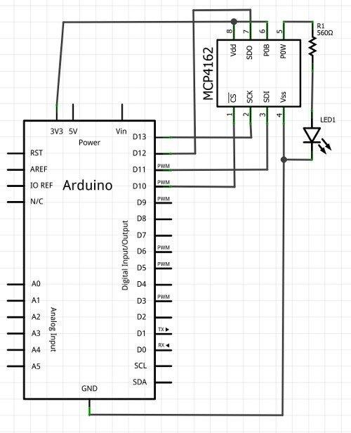 pcDuino-v2-MCP4162-SPI-demo-circuit