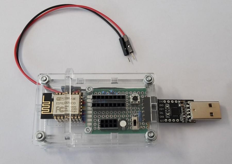 ESP programátor - Programování pomocí pogo pinů