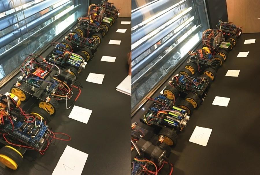 Přehlídka Arduino robotů na soutěži Student4Automotive