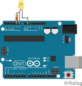 Připojení sfouknutelné LED k Arduinu