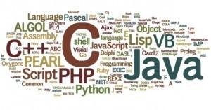 Programovací jazyky - Wordcloud