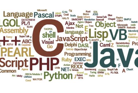 Programovací jazyky - Wordcloud - Zdroj Wikipedia Commons