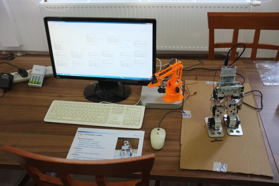 Propojení Stateflow aArduino veslužbách řízení robotů