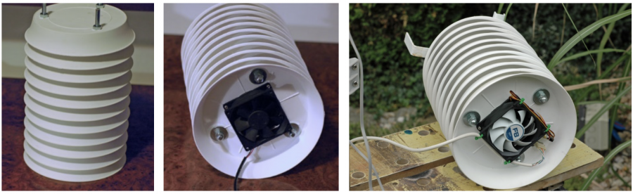 Radiační kryt - meteostanice Weatherduino